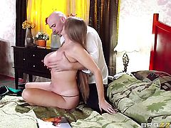 Darla Crane is on the way to the height of pleasure with hard dicked fuck buddy Johnny Sins