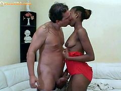 Black teen with petite body really got some serious blowjob skills after her partner licked both her pussy and her asshole. Watch her how she make hard of his tool for her fuck later on.