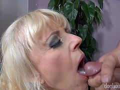 Lustful grannies is fucked and jizzed by horny young neighbors