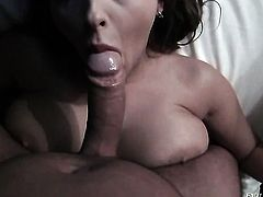 Candy Alexa gets the mouth fuck of her dreams with hard dicked dude David Perry