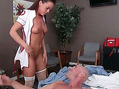 Johnny Sins bangs two super sexy nurses