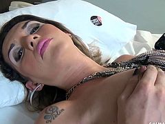 horny tranny jerks off for fun