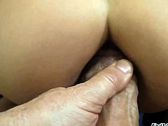 Rocco Siffredi is one hard-dicked guy who loves oral sex with Henessy S after backdoor fucking