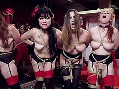 Seth and Mickey truly know how to pick up the best chicks for best of the parties. The girls are sexy, hot and willing to do anything for a price. They are paraded to show off their hot bodies and then asked to go on their knees, to suck the dicks, hanging out from the pants. They do a great job and are fucked hard into their warm pussies, as remuneration.