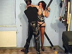 Lashing his whip her body
