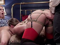 dani, cadence and tommy in a sexy threesome