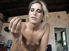 Kara Price has dick-hungry ass and takes care of mans erection