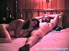Dude with a big beard blown in a vintage porn