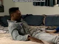 Delicious white chick Cheri Taylor gives blowjob to BBC Sean Michaels in classic interracial scene