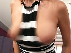 Jasmine Rouge makes no secret of her muff and knockers