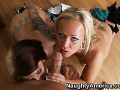 Christian gives dangerously horny Monroe Valentinos wet spot a try in steamy hardcore action