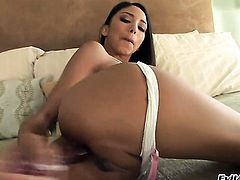Alexis Love enjoys Marco Banderass meaty hard cock in her warm mouth