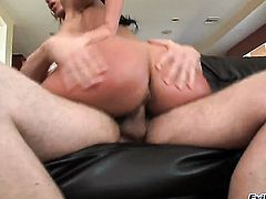 Chicana Nikki Sexx gets turned on then anal ploughed by Erik Everhards throbbing pole