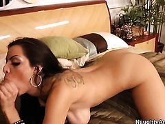 Latina Yurizan Beltran getting shagged hard and deep by Derrick Pierces rock hard snake