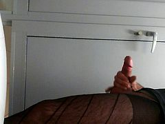 Jerking and cuming in the a public toilet