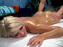 Sexy 18 year mature Tosh Locks has fucked hard from backside by her massage therapist
