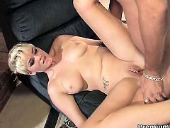 Claudia Downs gulps guys erect sausage