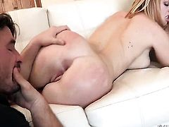 Manuel Ferrara stretches horny as hell Krissy Lynns butt with his rock hard pole to the limit