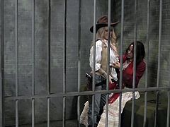 A girl wakes up in a jail cell to discover the town has a lady sheriff. Even though she is free to go, she decides to stay in the jail. Who could blame her with such a beautiful sheriff in town?