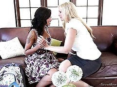 Skin Diamond and Julia Ann enjoy another lesbian sex session for the camera