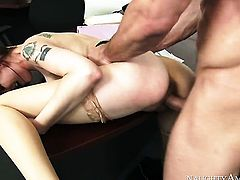 Johnny Castle gets pleasure from fucking Bree Daniels