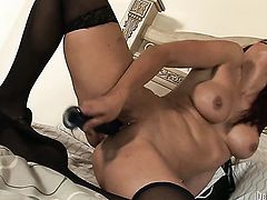 Ultra sexy doll kills time stroking her twat