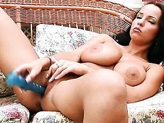 Laura Lion has a lot of sexual energy to spend and does it alone!