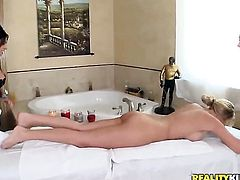 Blonde honey Sammie Rhodes finds her pussy full of love juice after sex with (Talk to This Girl