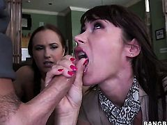 Holly Hudson with phat booty having unbelievable lesbian sex with Eva Karera