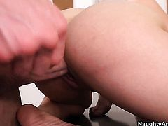 Jordan Ash makes his hard meat pole disappear in glammed up Khloe Kushs love hole