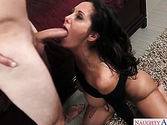 Asian gets the pleasure from pussy stuffing with Van Wylde like never before