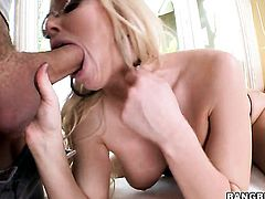 Christie Stevens with bubbly bottom is horny as hell and gives stroke job like theres no tomorrow