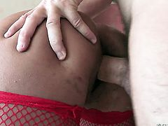Manuel Ferrara plays with sexy bottom of Shazia Sahari after he fucks her hard after dick sucking