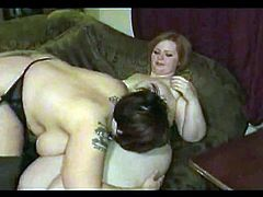 2 Horny Fat BBW Lesbians licking Wet Pussy