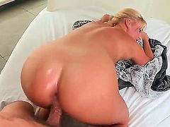 Payton Simmons is one curvy sex starved blonde with nice bubble butt. She  gets her soaking wet pink snatch banged doggy style. Her big onion booty is just perfect