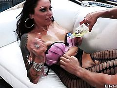 Mick Blue cant resist unbelievably hot Nikita Denises acttraction and bangs her ass like crazy