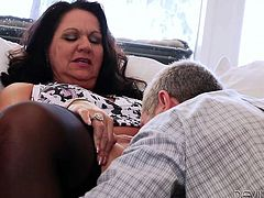 Do you believe older women can be as hot as they used to be back in their youth? Leylani definitely has broken many hearts. See the long-haired brunette playing wild with her partner. The game begins in the kitchen and continues in the bedroom, with a quick stop in the hall, where she gets to suck cock...