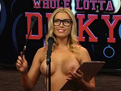 The hotter the atmosphere, the bigger the audience! Three horny bitches are prepared to show off her bodies. The slutty milfs reveal their tits without any shame. The exciting game has just begun and many surprise questions are on the way! Click to get entertained to the maximum...
