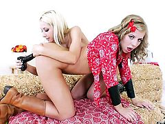 Sammie Rhodes gets her love hole eaten out hard by Chastity Lynn