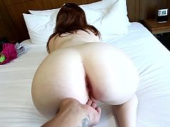 Slutty Alice is a young amateur hottie with great need in having her cramped pussy pumped while her guy films it all on cam