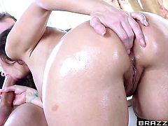 Danny D loves totally fuckable asshole of Syren De Mer with massive breasts