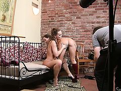 Silvia Saint and Cindy Dollar show their love for hole in girl-on-girl action