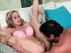 Brandi Love is hungry for man semen