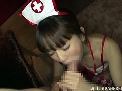 nurse gets drenched in cum