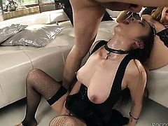 Asian Marica Hase loves the way Omar Galanti bangs her mouth after back porch fucking