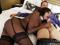 Erik Everhard plays with sexy bottom of Diamond Jackson with juicy knockers after he bangs her hard