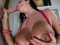 Huge tits milf gets cum in pussy