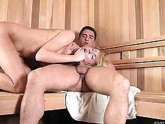 Victoria White just loves to blow and cant say No to hot guy Toni Ribas after she gets assfucked