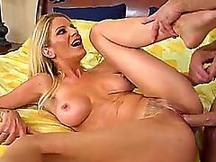 Mom sucks a big dick