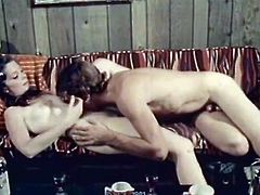 Kinky pale and all natural brunette gets slit fucked missionary and gives BJ